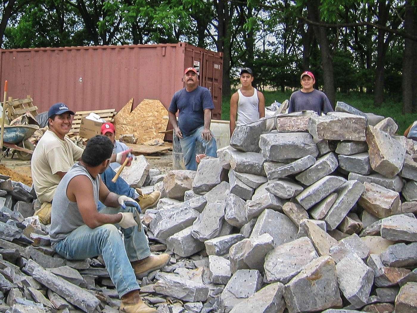 Shenandoah Stone Cottage Construction 1