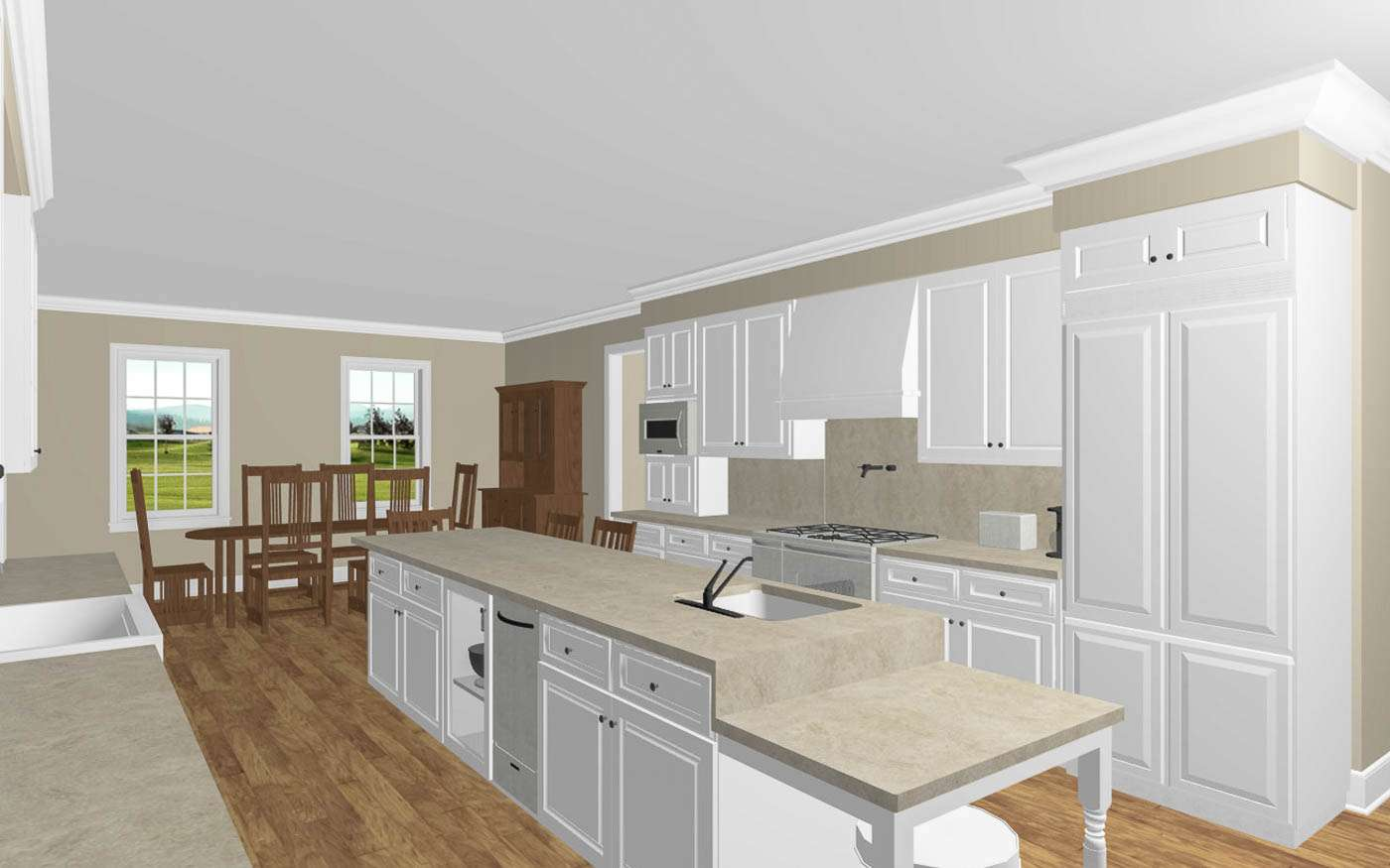 Engle Family Compound Kitchen Perspective 1
