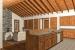 Shenandoah Stone Cottage Kitchen to Fireplace 1