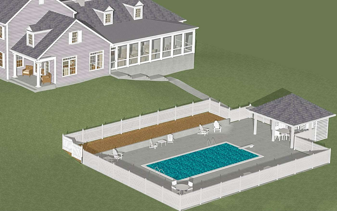 Engle Family Compound Existing Pool